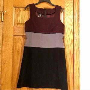 Faux suede Color Block Dress, Juniors 13/14